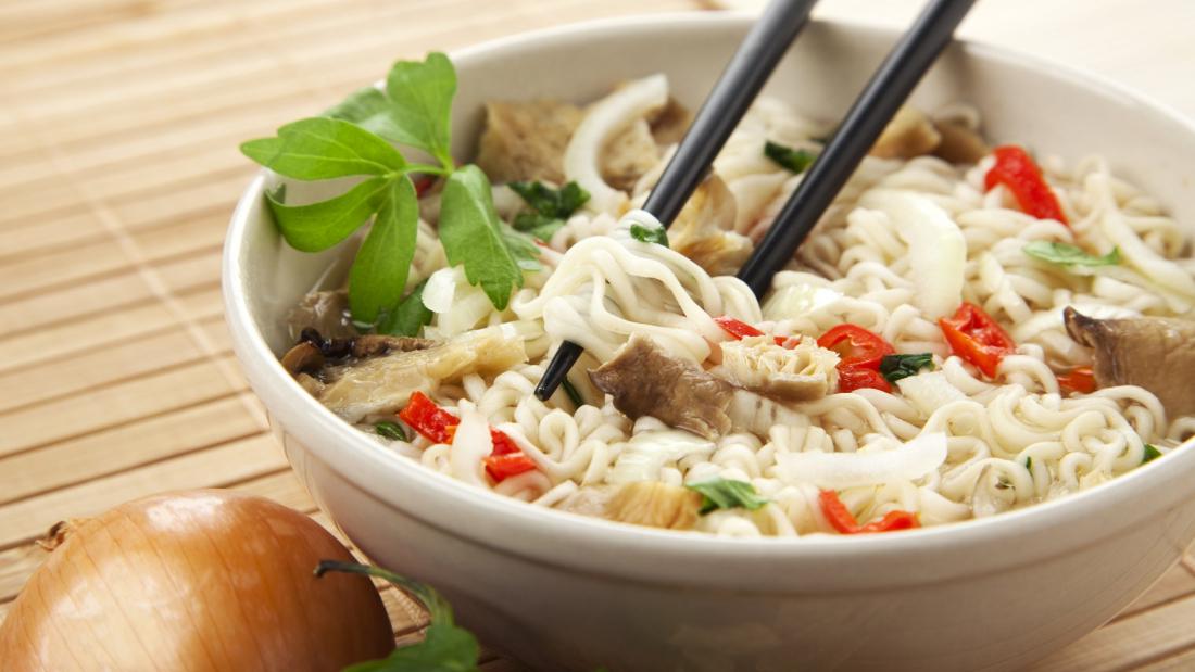 Ramen Noodles in Bowl